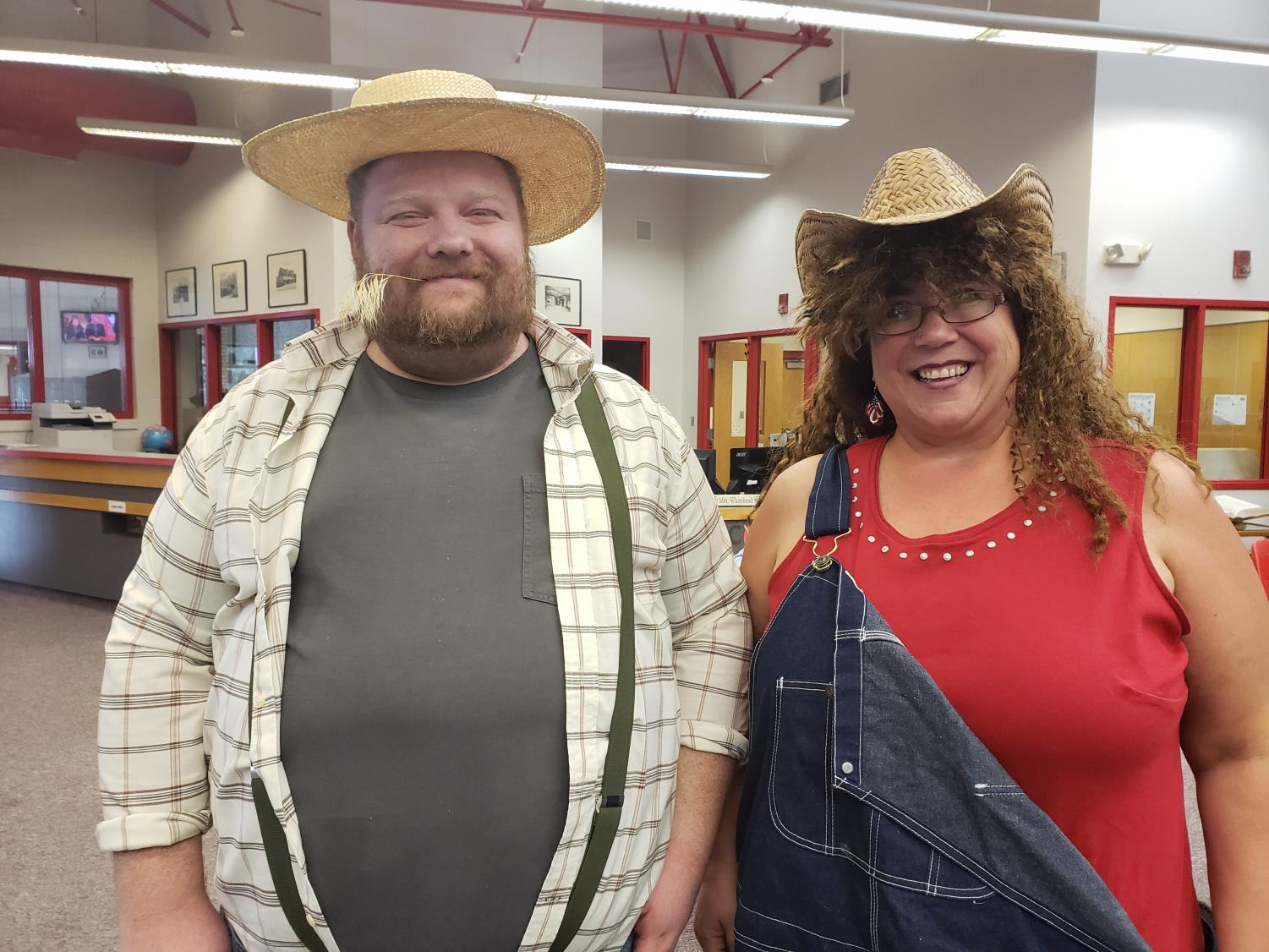 Mr. Sanford and Ms. Fleischmann sport their
