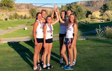 A new trophy in the case! September 27th, varsity girls take home some medals from the Dani Bates invitational in Twin Falls.