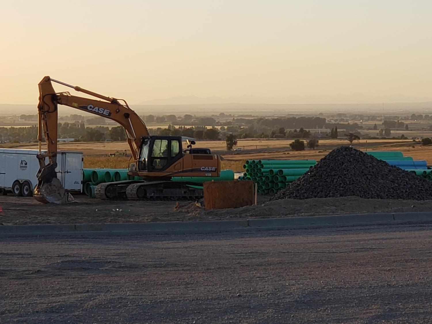 Construction on the NorthGate Development is still continuing as more vehicles and workers appear at the site.