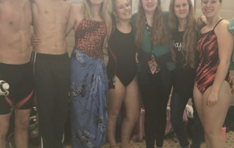 Some of Highland High Schools Varsity swimmers