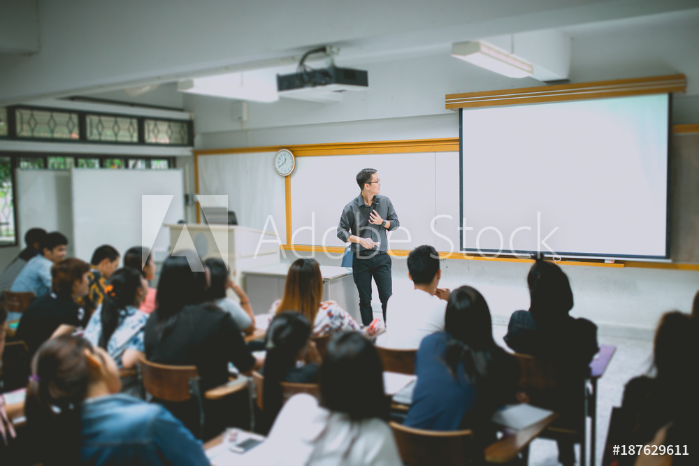 STOCK PICTURE OF A CLASSROOM