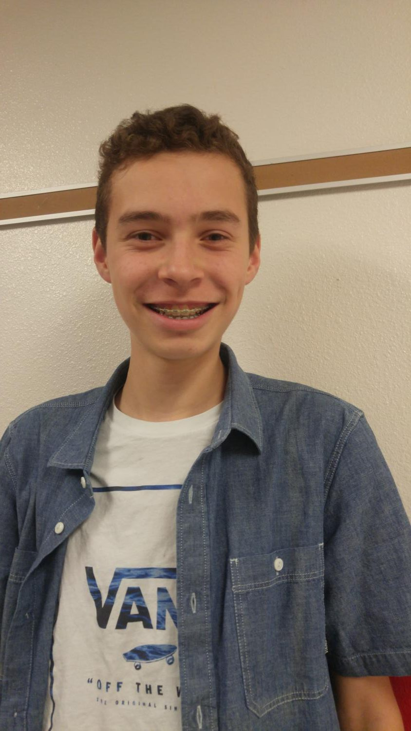 SMILE EVERYDAY- Nicolas Price, a freshman at Highland, says he smiles every day and hardly ever stops smiling!