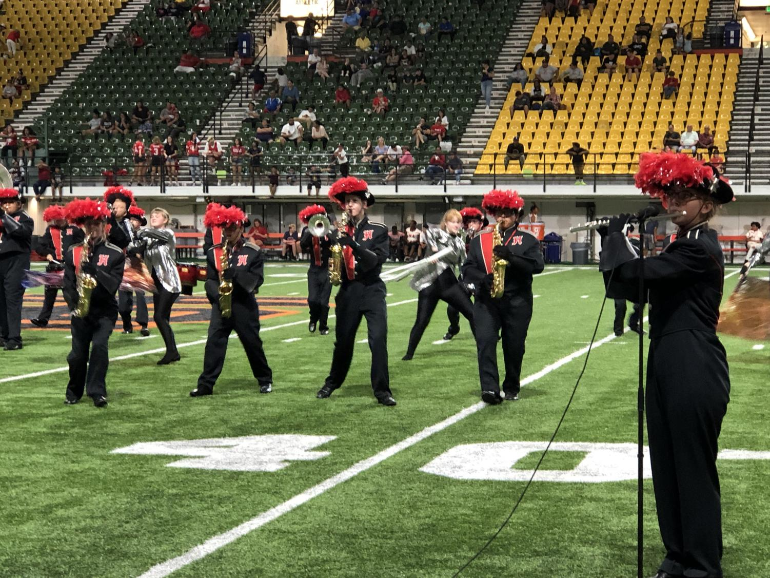 Marching+band+performance+at+ISU+holt+arena.+Saturday%2C+8%3A40+p.m.