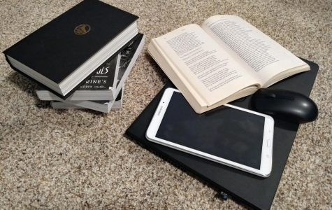 Books are slowly being replaced by electronics