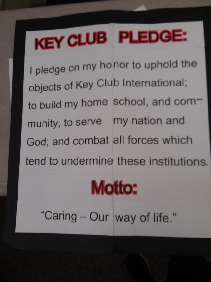 This+is+the+key+club+pledge+at+HHS.