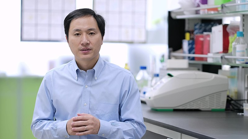 Chinese biomedical researcher Dr. Jiankui He, 25 November 2018. Photo credit: WikiImages.