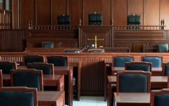 This is an example of a courtroom. This is typically what they will look like in competitions.