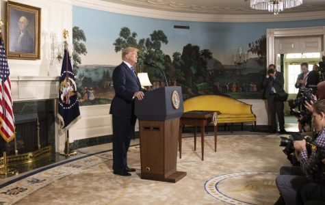 President Donald J. Trump delivers remarks on the Joint Comprehensive Plan of Action