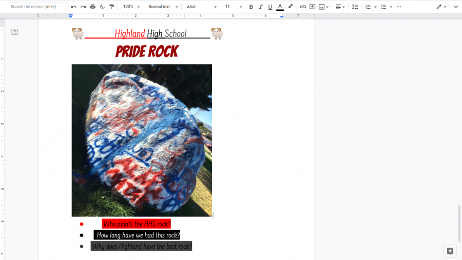 The History of Highland High School's Pride Rock
