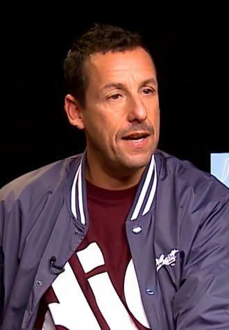 Adam Sandler being interviewed in 2018.