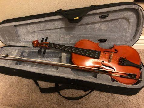 One of the many instruments that is used in the orchestra is a violin.