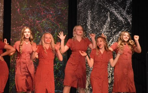 2019-2020 Trouveres singers perform at last year's cabaret..
