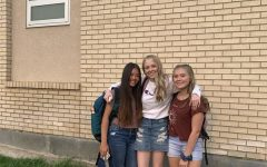 Brookelyn Benedetti, Charity Anderson and Kennedy Bailey all on A day at school.