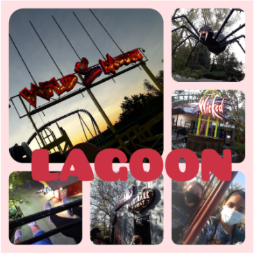 This is a collage of a couple of the rides at Logoon. Quanesha Williams and Montana Freemon.