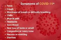 Covid is spreading at a fast rate... Do you experience any of these symptoms?