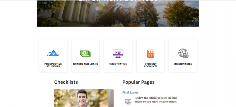 The front page of the financial aid website can guide you to what scholarships you want, can help with your account, and can give you information about being a missionary, go to enrollment.byu.edu to get started.