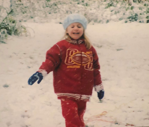 Jorja Wilson having fun in the snow on a cold winters day!