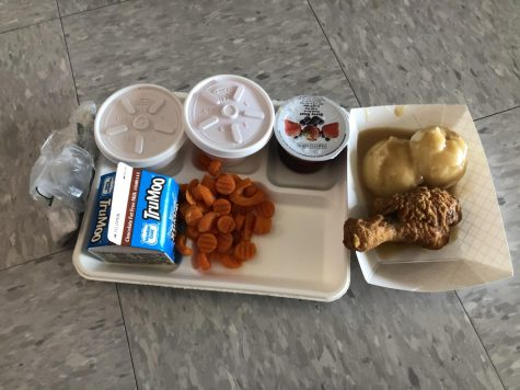 A normal day at Highland high school, with a special lunch from the cafeteria.