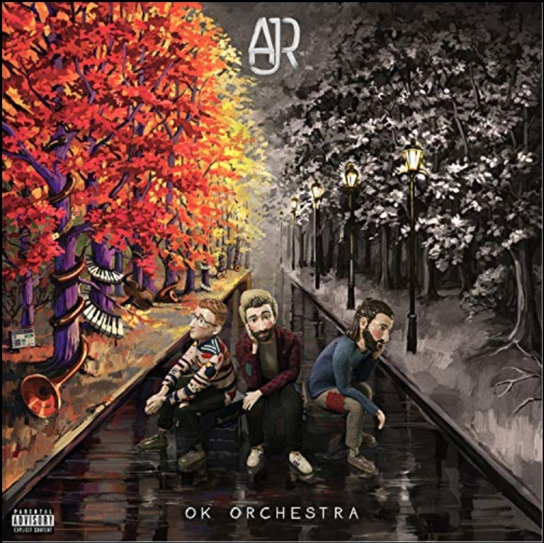 Screenshot of AJR's cover for their new album.