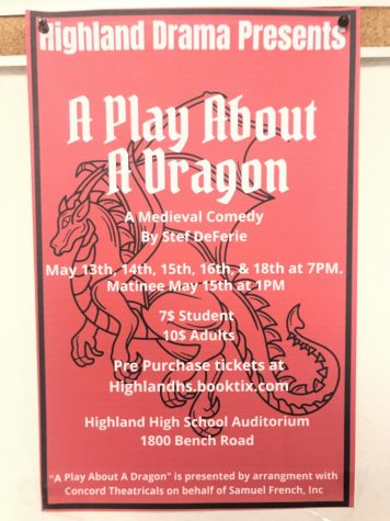 Poster with important details about the play.