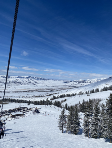 This is a view of Pebble Creek from the sunshine lift